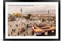 Barkhor Square in Lhasa, Tibet, Framed Mounted Print