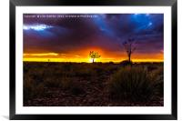 Sunset in Fish River Canyon, Framed Mounted Print