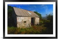 Wriggly Tin: Gwaun Valley Barn, Framed Mounted Print