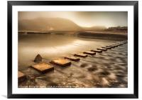 Stepping stones, Framed Mounted Print