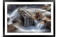 Icicles in a stream, Framed Mounted Print