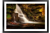 The falls at Neath Abbey, Framed Mounted Print