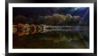Autumn at Glynneath lakes, Framed Mounted Print