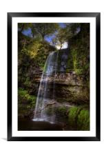 Henrhyd Falls at Coelbren, South Wales UK, Framed Mounted Print