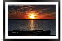 The Old Slipway at Sunset, Framed Mounted Print