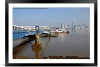 Snowdrop leaving Seacombe Ferry, Framed Mounted Print