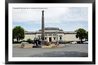 The Lady Lever Art Gallery & memorial column, Framed Mounted Print