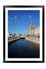 Liverpool's iconic Waterfront, Framed Mounted Print