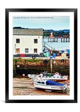 Small boats awaiting the tide., Framed Mounted Print