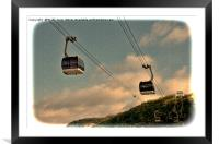 Cable cars in Koblenz, Framed Mounted Print