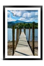 A Pier on Derwent Water, Framed Mounted Print
