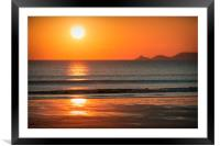 Reflecting Sunset, Framed Mounted Print