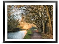 Canal Side, Framed Mounted Print