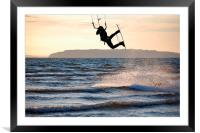 The Air Is Beautiful Up Here!, Framed Mounted Print