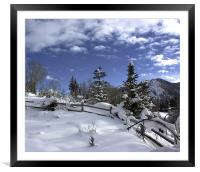 After the Snow, Framed Mounted Print
