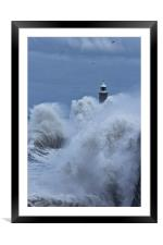 Tynemouth White Horses, Framed Mounted Print
