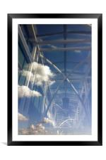 reflections in window, Framed Mounted Print
