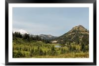 Looking Down at Tipsoo Lake from Naches Peak Loop, Framed Mounted Print