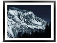 The Grandes Jorasses from Courmayeur, Framed Mounted Print
