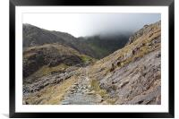 Pathway to the Summit, Framed Mounted Print