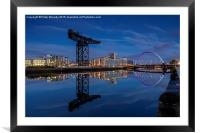 The Squinty Bridge, Framed Mounted Print