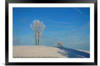 White and Blue Simplicity, Framed Mounted Print
