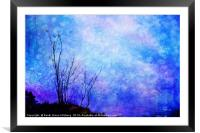 Lost in Blue, Framed Mounted Print
