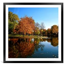 Reflection in the Park, Framed Mounted Print
