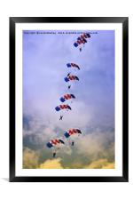 RAF Falcons Stack Formation, Framed Mounted Print