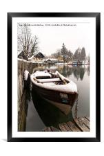 Boats At The Bled Lake, Framed Mounted Print
