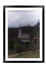 Parish Church of the Sacred Heart, Framed Mounted Print