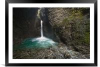 Slap Kozjak Waterfall, Framed Mounted Print