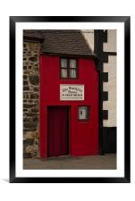 Smallest House In Great Britain, Framed Mounted Print