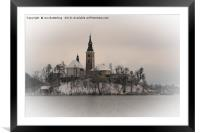 Bled Island Winter, Framed Mounted Print