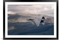 Mach Loop F-15 Low Level Flypast, Framed Mounted Print