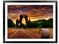 Priory Sunset, Framed Mounted Print