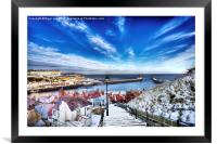 Whitby Abbey Steps, Framed Mounted Print