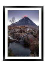 Red Cap. (Buchaille Etive Mor, Glencoe), Framed Mounted Print