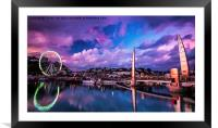 Riviera Reflections, Framed Mounted Print