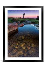 Clear Water Sunset, Framed Mounted Print