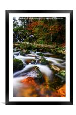 Becky Falls, Framed Mounted Print
