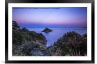 Thatcher Rock at Sunset, Framed Mounted Print