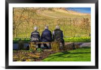 Admiring the view, Framed Mounted Print