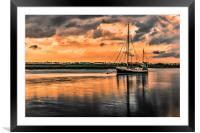 Surreal Sunset over the backwaters, Framed Mounted Print