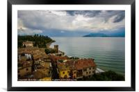 Sirmione Italy Rooftop Scene, Framed Mounted Print