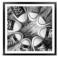 Running in Circles, Framed Mounted Print