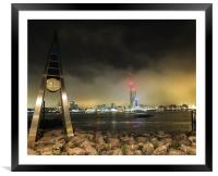 gosport clock and spinaker tower, Framed Mounted Print