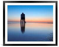 Burnham-On-Sea lighthouse, Somerset, UK, evening, Framed Mounted Print