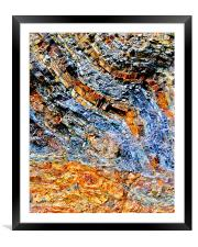 The Colour of Rock, Framed Mounted Print