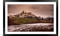 Landscape of Montecorone, Italy, Framed Mounted Print